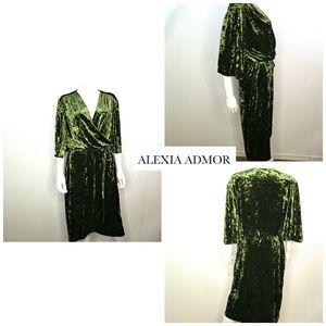 Alexia Admore Velvet Wrap Dress
